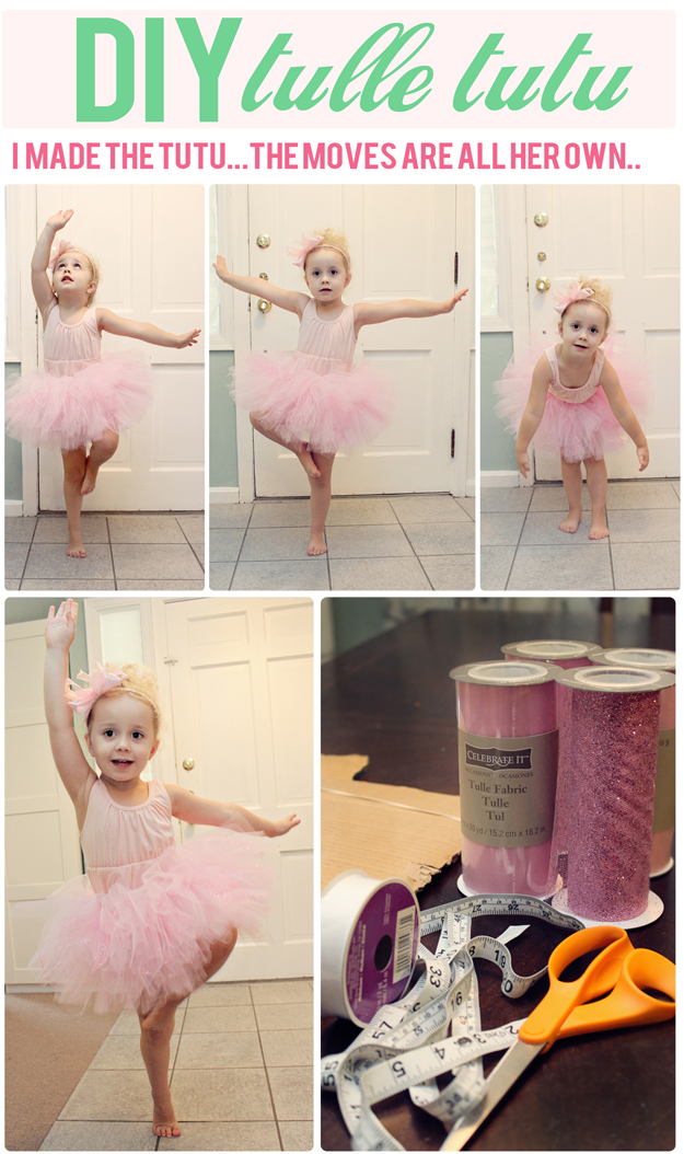 Costume de ballerine avec un tutu DYI. Par At Home with Natalie.