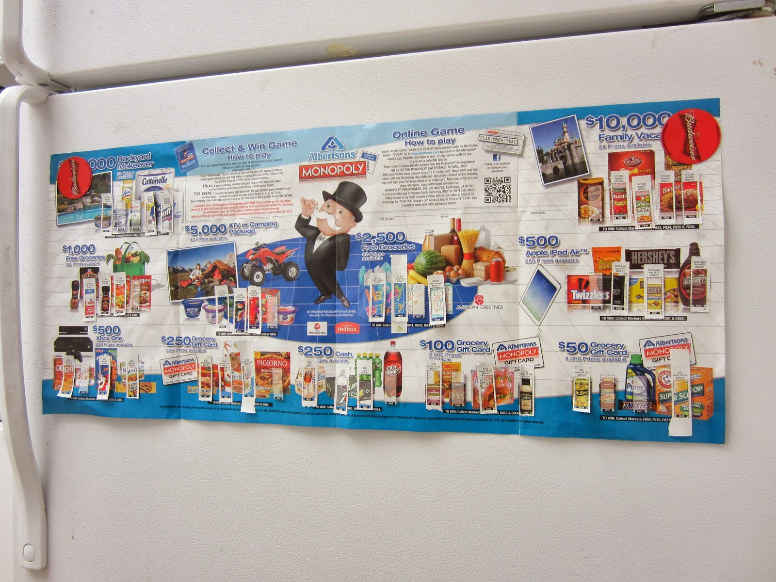 graphic relating to Albertsons Monopoly Game Board Printable named Creating Nearly anything: Albertsons Retail outlet, Enjoy Earn Monopoly Gather