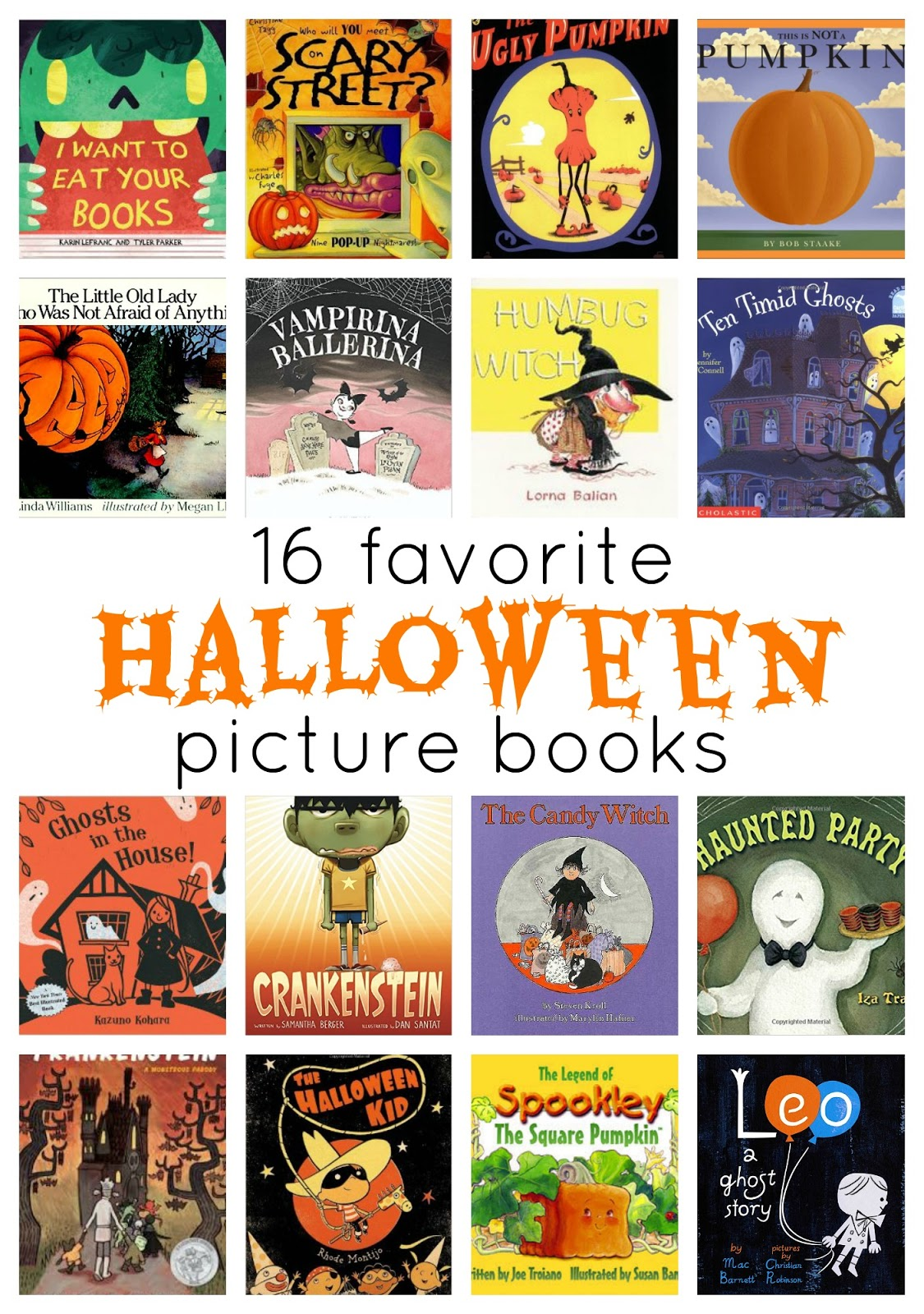 16 fantastic Halloween/Fall Books to read aloud to kids!