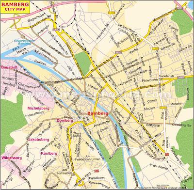 Mapa de Bamberg Ciudad
