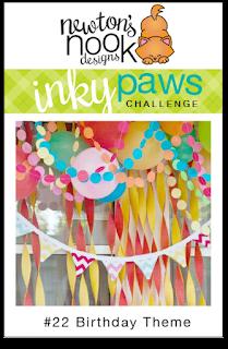 Inky Paws Challenge | Newton's Nook Designs | Birthday Theme