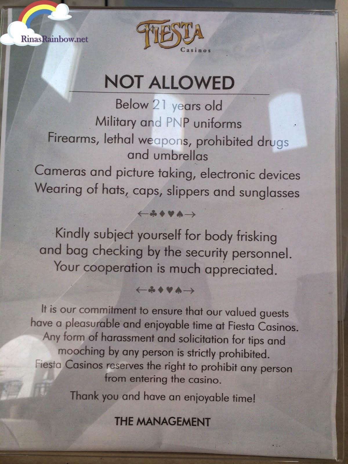 fiesta casino rules