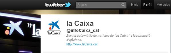 """@infoCaixa, """"la Caixa"""" en Twitter"""