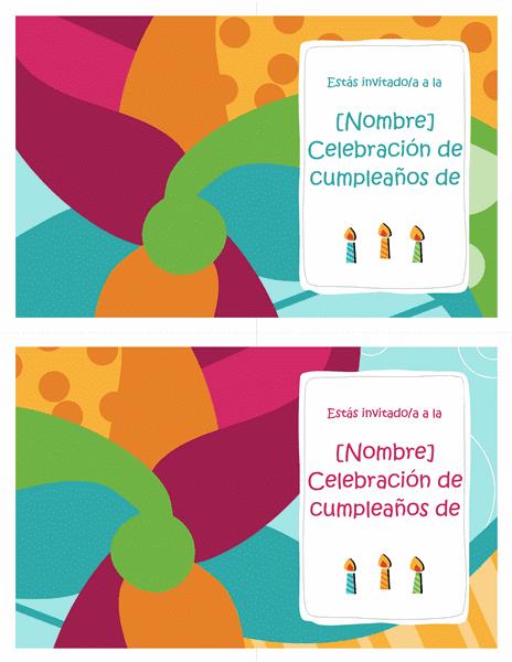 Free Online Gratis: Tarjetas de invitación de fiesta de cumpleaños ...