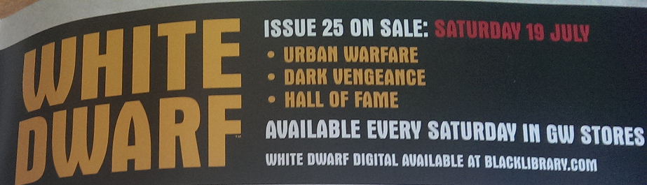 Pre de White Dwarf Weekly número 25 de julio