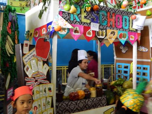 nutrition month, nutrition month activity, costumes, headdress, fruit dessert