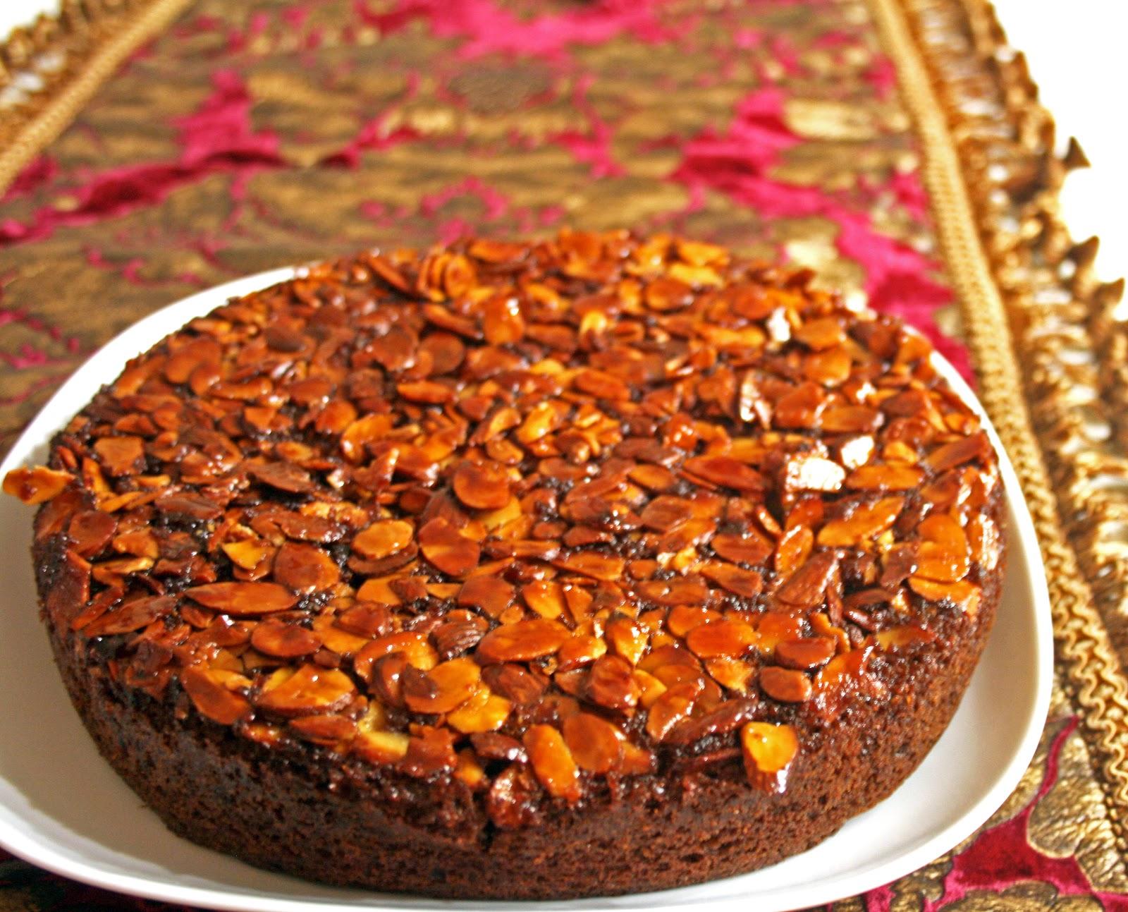 Martha Stewart Chocolate Almond Upside Down Cake