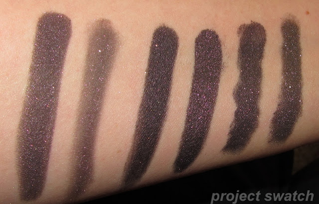 Steampunk - Pressed / Loose Comparison - swatches