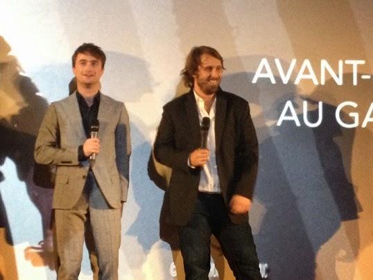 Daniel Radcliffe et Alexandre Aja lors de l'avant-première de Horns, au Gaumont Champs-Elysées