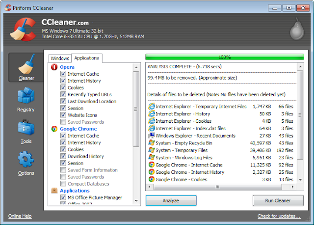 تحميل برنامج CCleaner v4.05.4250 لتنظيف الملفات وتحسين وتسريع اداء جهازك مجاناً