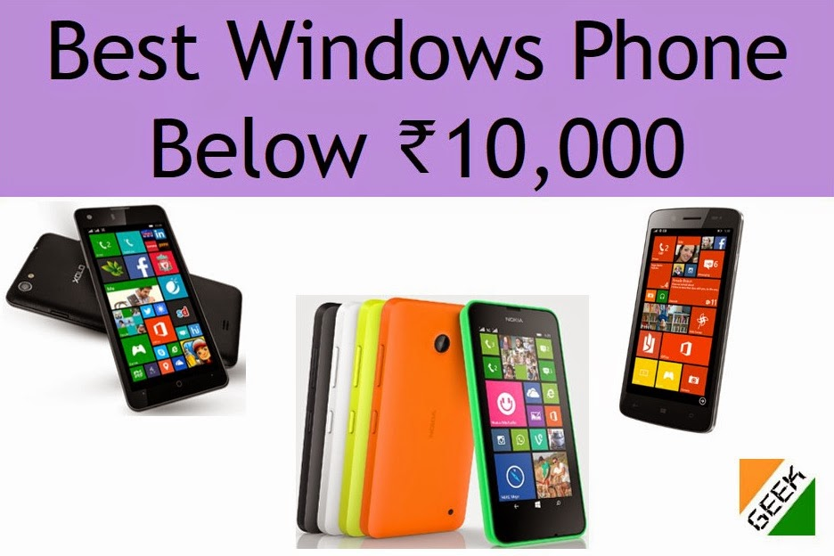 Best Windows Phone under 10k