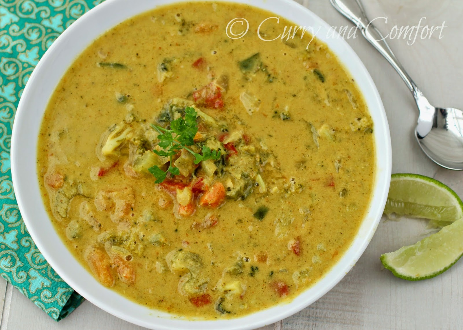 Curry and Comfort: Broccoli Lentil Curry Soup