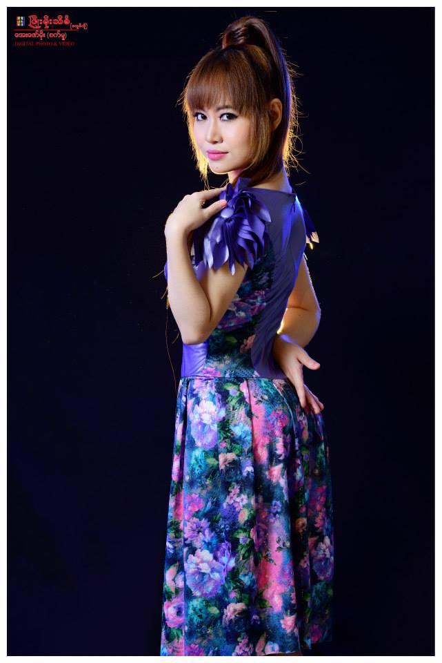 Myanmar Facebook Celebrity and Writer Shwe Yay Htin Htin Sunday Journal Cover Photoshoot