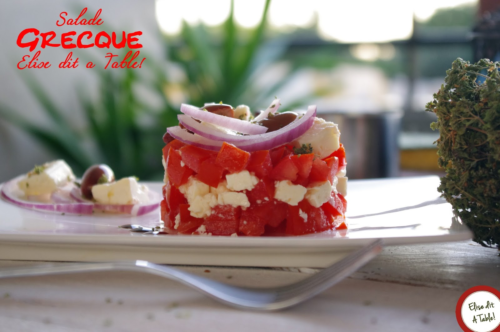 recette Salade tomate feta à la greque