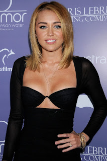 Miley Cyrus In A Little black Dress