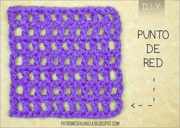 Punto Red a Crochet (foto-tutorial) (diagrama) - PATRONES VALHALLA ...