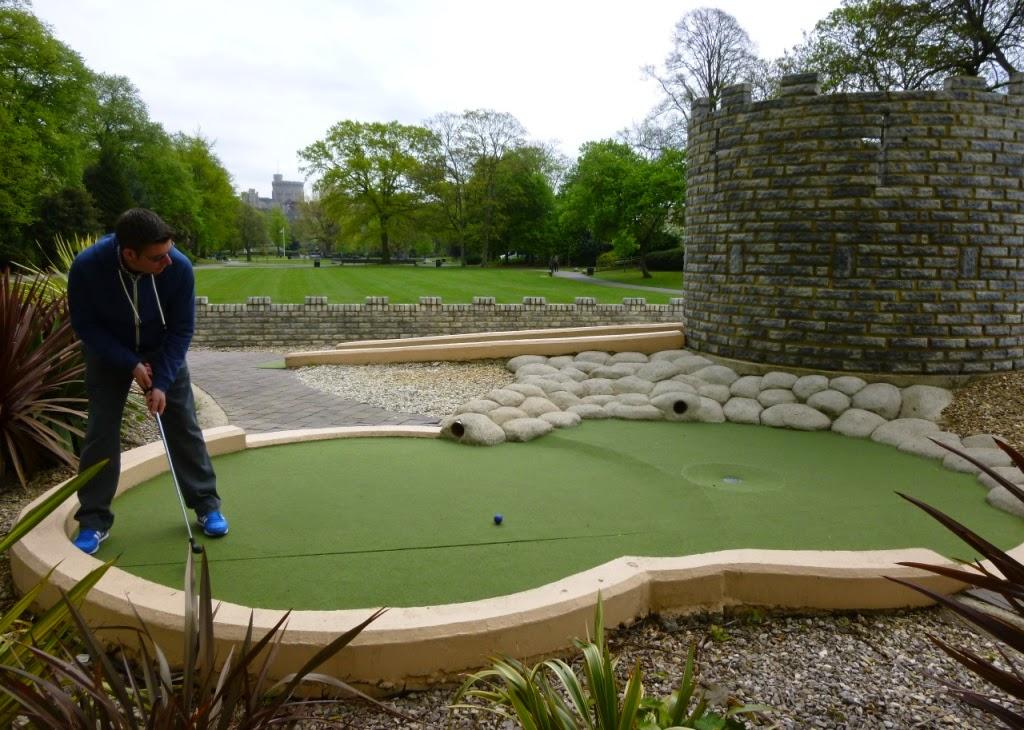 Mini Golf course in Alexandra Park, Windsor