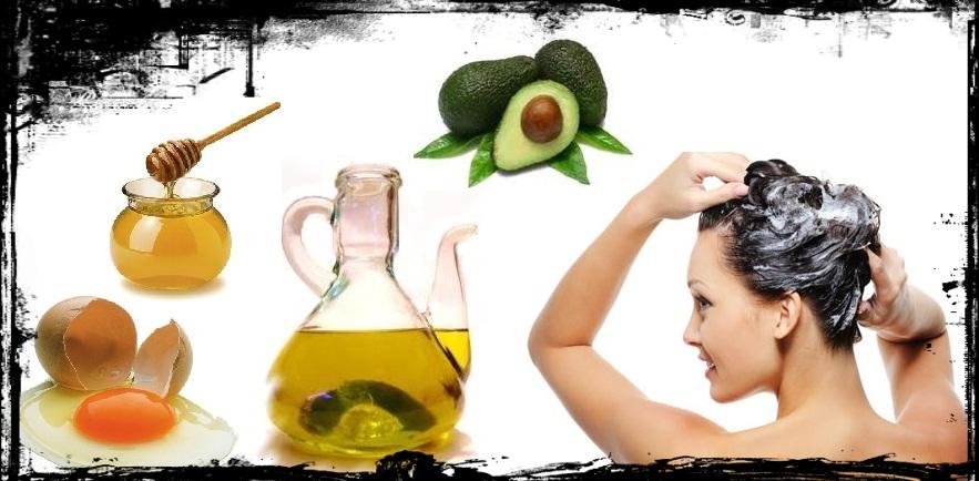 Los champúes naturales con el aceite para los cabellos