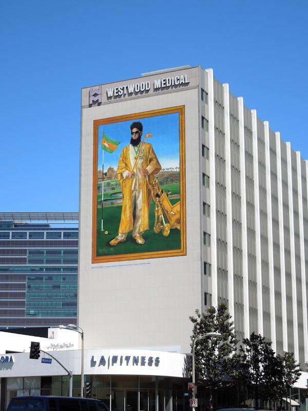 The Dictator giant movie billboard