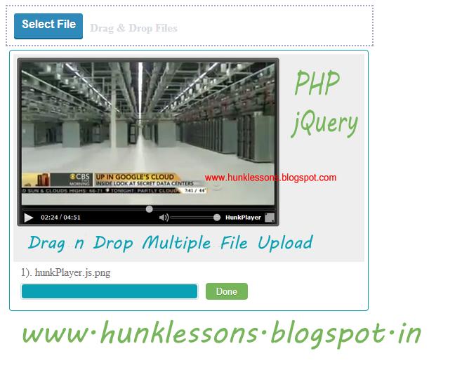 Hunklessons Drag Amp Drop Multiple File Upload Like Facebook