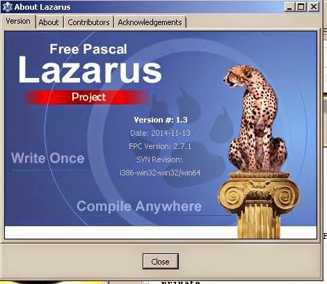 Proudly using Lazarus 1.3 r FPC 2.7.1 i386-win32-win32/win64