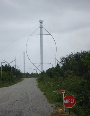 image courtesy of wikipedia, I believe this is a <b>vertical axis wind turbine</b> which is installed somewhere in quebec canada