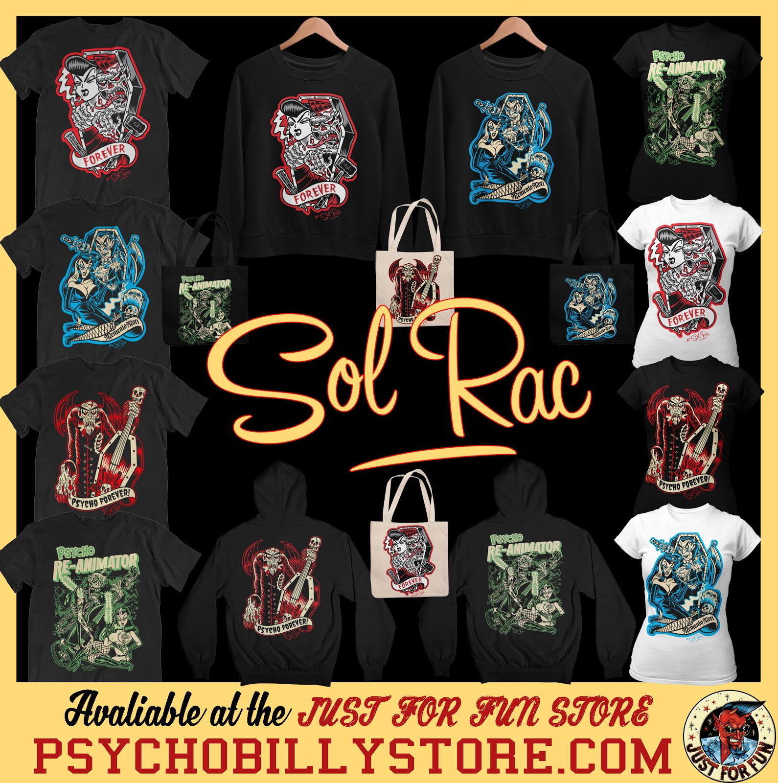 "Sol Rac ""Wild Rockin Artwork"" Just for Fun Store !"