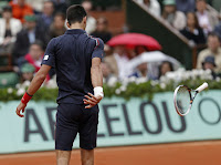 Novak Djokovic en la final de Roland Garros 2012