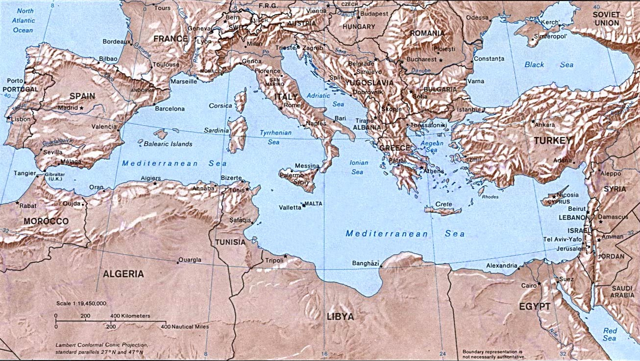 Map of Europe Cities Pictures Mediterranean Sea Map Area