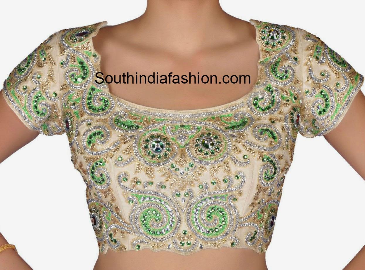 stone work blouse