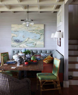 Mismatched Painted Dining Room Chairs
