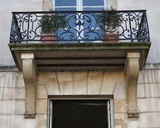 Balcon du 13 quai d'Anjou à Paris
