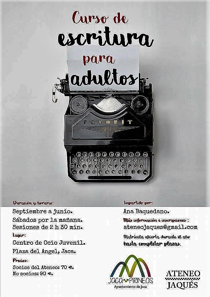 JACA (HUESCA): CURSO ANUAL DE ESCRITURA PARA ADULTOS