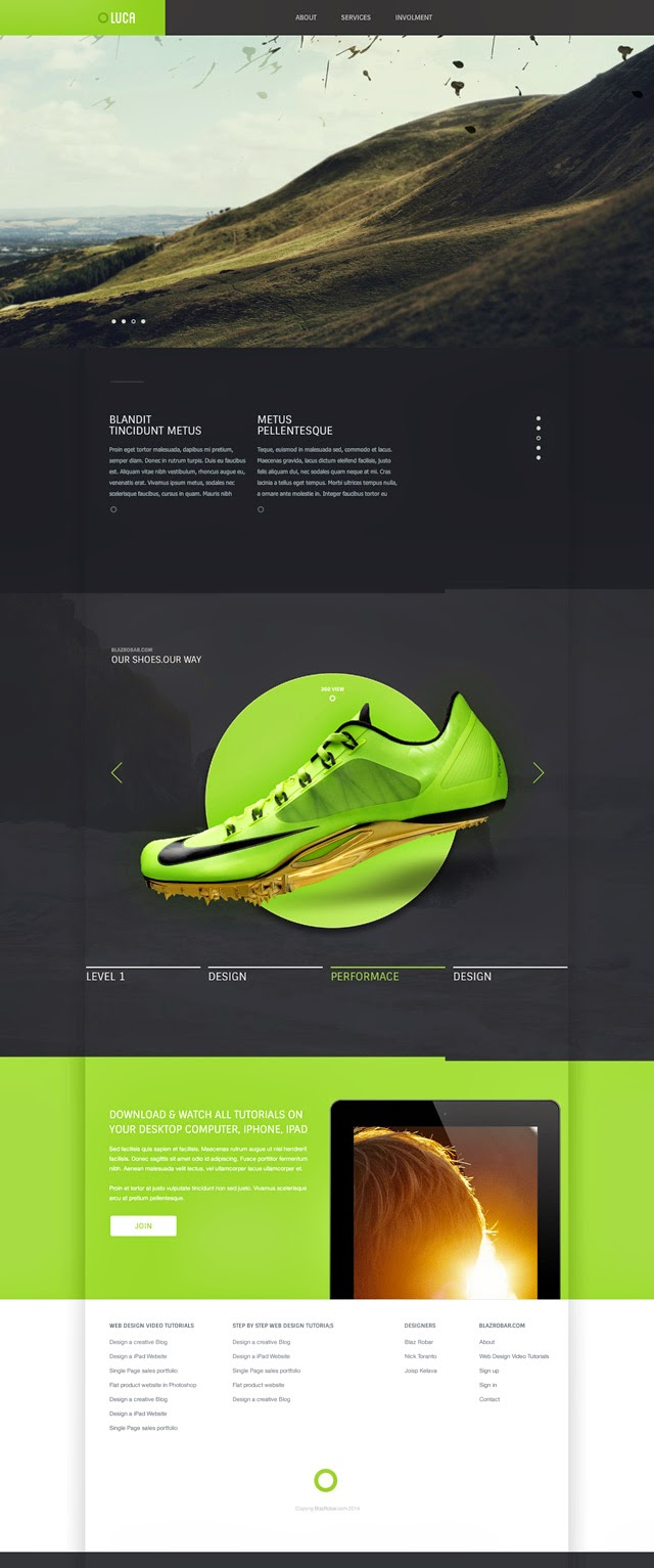 Cool Free PSD Website Template