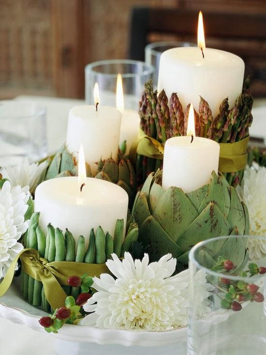 Pine cones and acorns thanksgiving centerpiece ideas