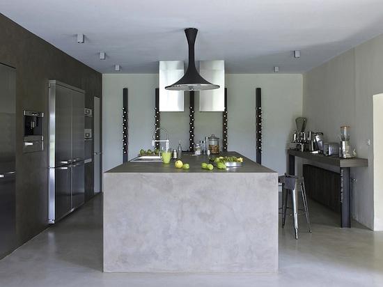 Diseño de cocinas con cemento pulido