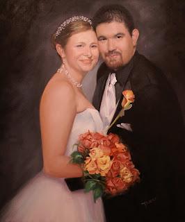 wedding oil portrait example wedding portrait commissions