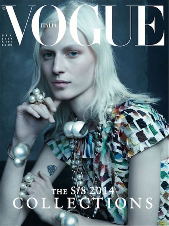 vogue italia january 2014 cover