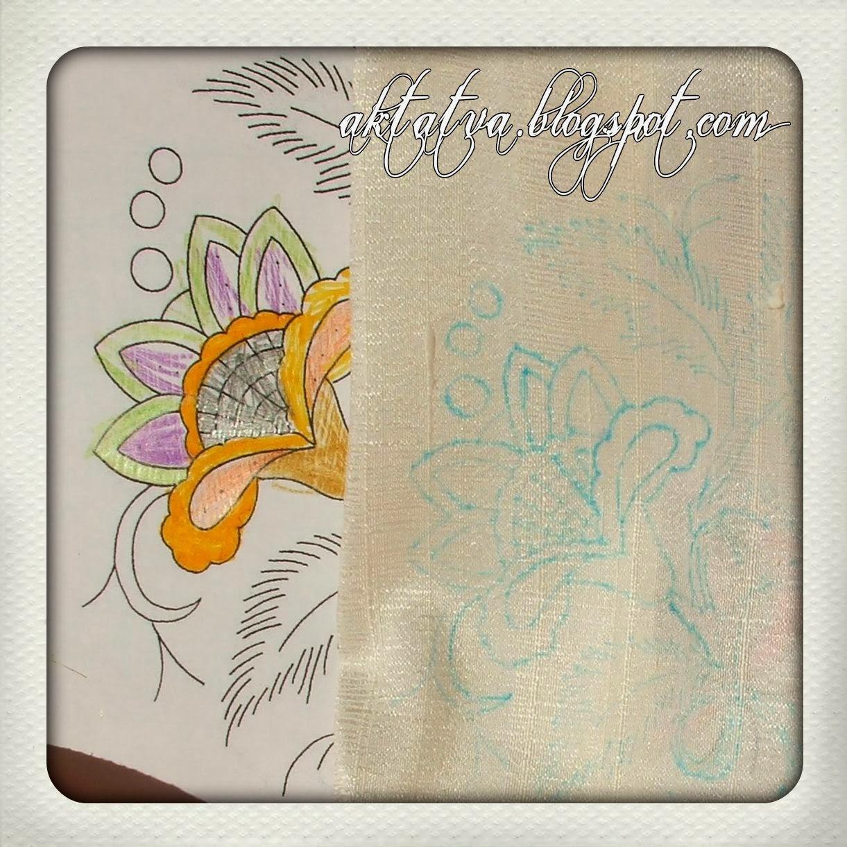 Перенести рисунок вышивки на ткань 329
