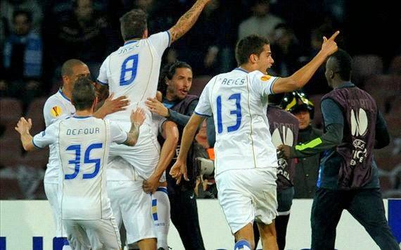 Hasil Pertandingan Napoli vs Porto 21 Maret 2014 - Liga Europa