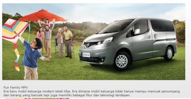 Nissan Evalia Medan