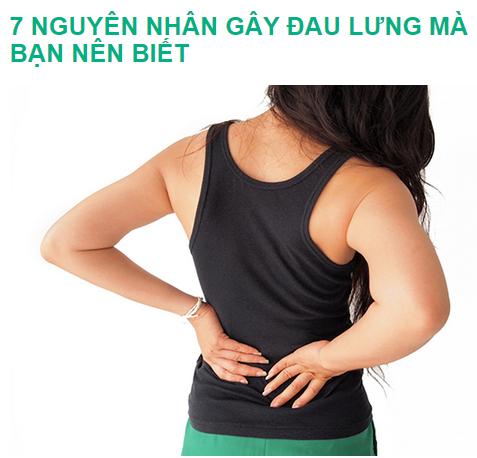 Các nguyên nhân gây đau lưng mà bạn nên tìm hiểu