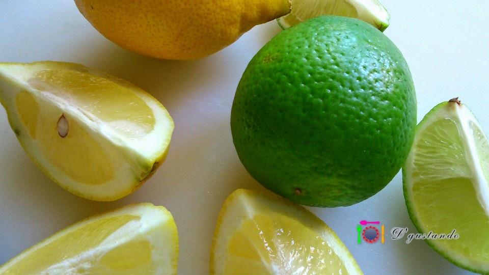Usaremos limón y lima para este postre