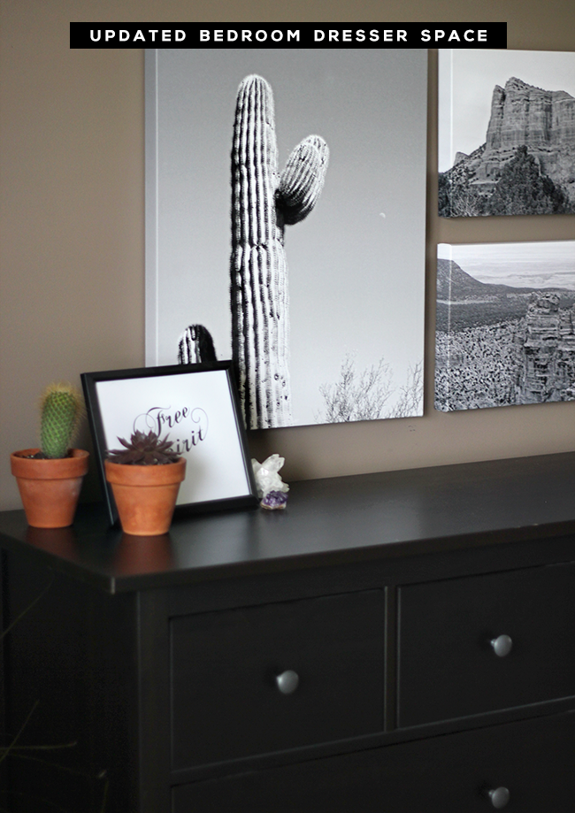 Our Updated Bedroom Dresser Space + a $  100 Snapfish Giveaway from Bubby and Bean