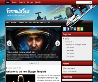 formulaone-blogger-template