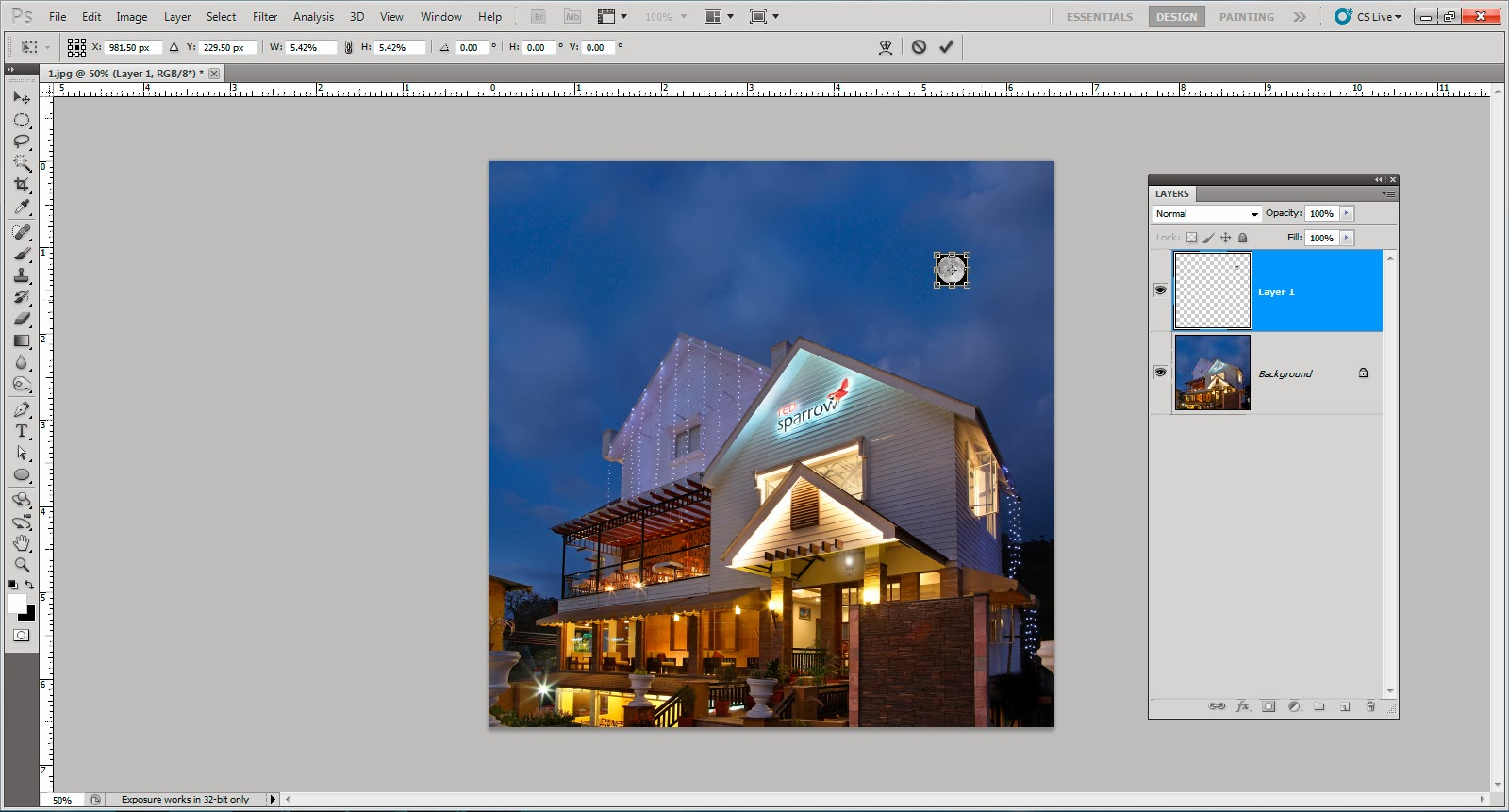 image compositing in adobe photoshop