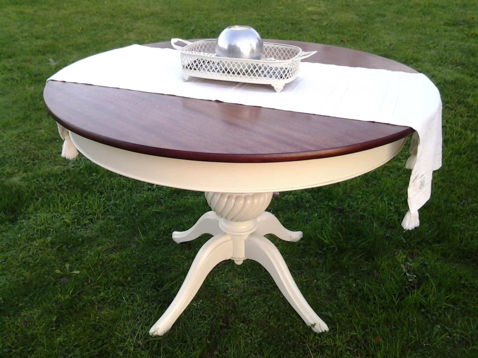 La almoneda de ana mesa de comedor con pata central for Mesa comedor pata central