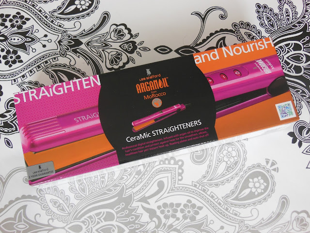 Lee Stafford Straighten and Nourish argan oil straighteners