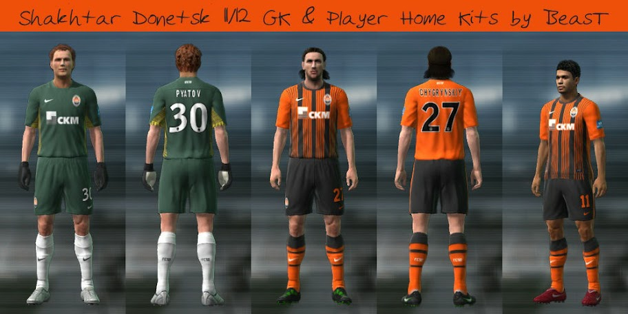 Shakhtar Donetsk 11/12 GK & Home Kits by BeasT