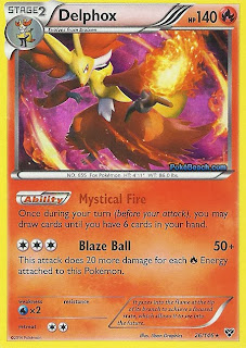 Delphox Pokemon X and Y Card